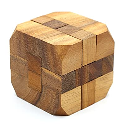 The Diamond Cube Wooden Puzzles Adults 3D Interlocking Brain Teasers Games