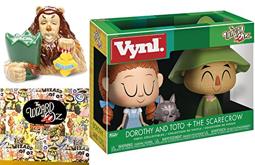 Figures Wizard of Oz Vinyl 2-Pack Funko starring Dorothy & The Scarecrow + Cowardly Lion Salt & Pepper Shakers Figurine officially licensed 2-pack yellow Brick Road set