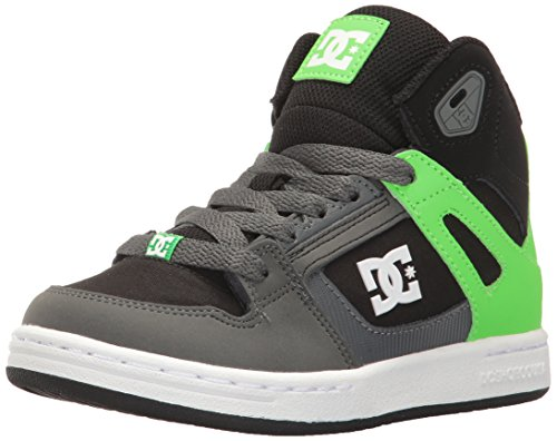 DC Boys' Youth Rebound SE Skate Shoes, Green/Black/White, 13.5 M US Little Kid