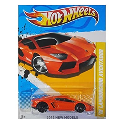 Hot Wheels 2012 New Models '12 Lamborghini Aventador Orange #12/247: Toys & Games