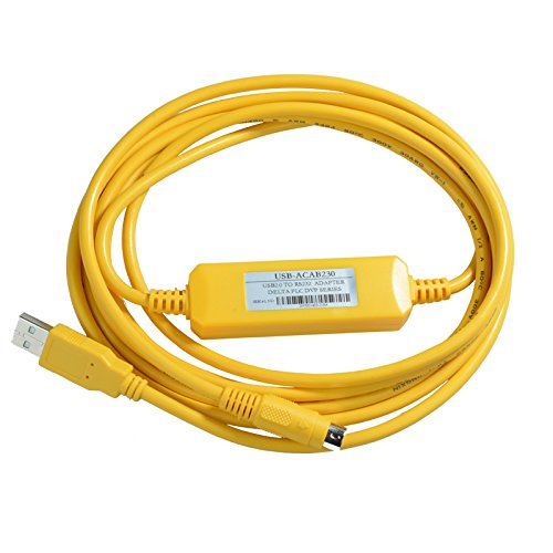 INFORMIC USB-DVP,USB-ACAB230 Programming Cable for Delta DVP Series PLC,Support WIN7