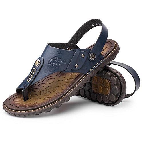 Da UK6 QIDI Sandali Giallo Pantofole Maschio Colore Scarpe Blu Antiscivolo EU39 5 Blu Spiaggia Estate dimensioni Marrone Giallo p81cRpHr