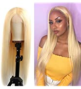 613 Straight Lace Front Wig Human Hair Pre Plucked 150% Density Brazilian 13x4 Lace Front Wigs fo...