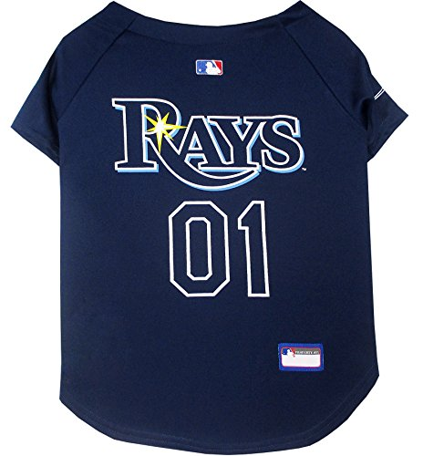 picture of Pets First MLB Tampa Bay Rays Dog Jersey, Medium