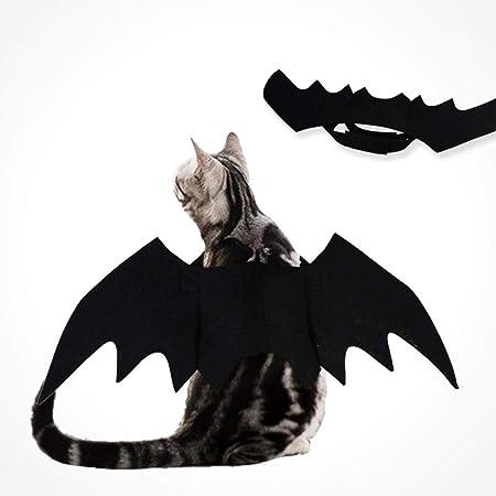 JLFDHR Disfraz de Gato de Halloween Alas de murciélago de Fieltro ...