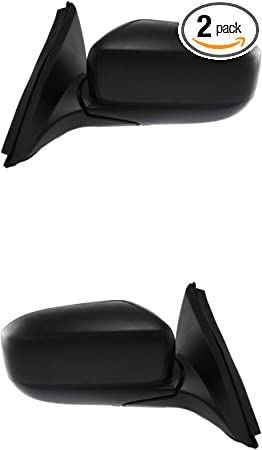 08-12 Honda Accord Door Mirror Power Black Pair Set Both 4 Door Sedan