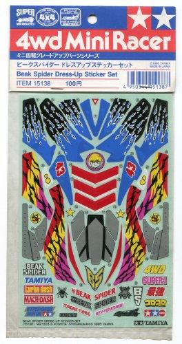 ビークスパイダー ドレスアップステッカーセット 「ミニ四駆 グレードアップパーツシリーズ」 [15138]
