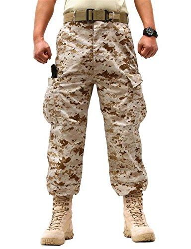 ZLSLZ Men's Military Tactical Camouflage Cargo Pants Trousers Desert Tag XL US (Desert Camouflage Pants)