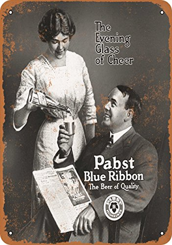 Wall-Color 10 x 14 Metal Sign - 1913 Pabst Blue Ribbon Beer - Vintage Look