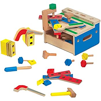 Amazon Com Melissa Amp Doug Hammer Amp Saw Wooden Tool Bench