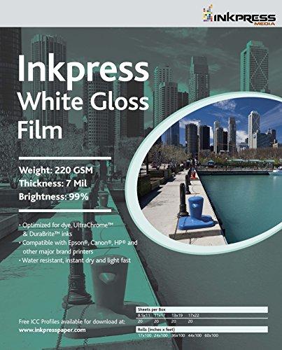 Inkpress MEDIA #WGF851120 220GSM, 7Mil, 99 - Percent Bright