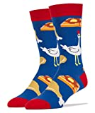 Oooh Yeah Socks  - Mens Crew - Chicken and Waffles, Large
