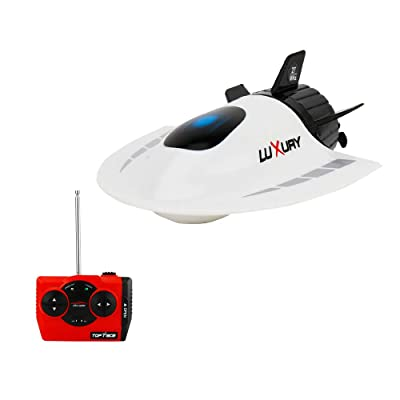 GoolRC Mini RC Submarine Boat, Remote Control Waterproof Diving Toy for Kids (White): Toys & Games