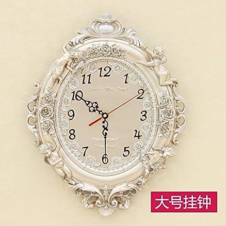 Y-Hui mira el Salón Dormitorio decorativo Ultra-Quiet reloj reloj de pared Reloj de cuarzo, 16 pulgadas y 20 pulgadas color champagne: Amazon.es: Hogar