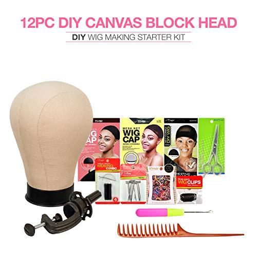Studio Limited Canvas Block Head DIY Wig Making Starter Kit 12pcs (22