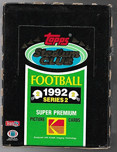 1992 TOPPS STADIUM CLUB FOOTBALL SERIES 2 WAX BOX ---- SET HAS 82 ROOKIES ()