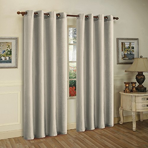 3-Pack: Curtain Panels with Grommets - Assorted Colors (SILVER) (Yellow Swags Rose)