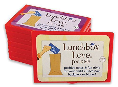 Best Seller! Lunchbox Love Notes for Kids by Say Please. 96 positive lunch notes, fun trivia AND jokes for your child's school lunchbox, backpack, or binder. (Volumes 73-80)
