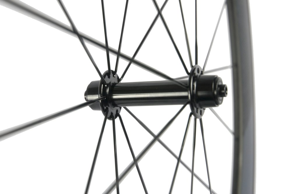 Sunrise Bike Carbon Road Wheels 700C 50mm Clincher Wheelset 3k Matte Finish with Decal by SunRise (Image #8)