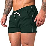 URRU Men's Casual Training Shorts Gym Workout