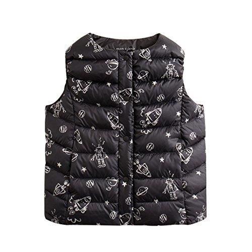 marc janie Girls Boys' Lightweight Packable Down Puffer Vest Star Wars 18 Months