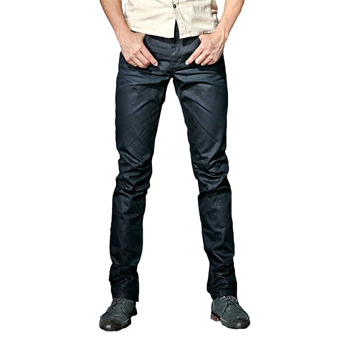 Chlyuan Männerjeans Männer Herbst und Winter Baumwolle gerade beschichtet  Jeans Jeans Lässige Arbeitshosen (Größe   33)  Amazon.de  Küche   Haushalt bb1f2d409c
