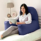 Changing Sofas Navy Blue Cotton Twill'Chloe' Bean Bag Back Rest Reading Cushion