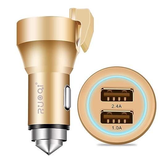 FJW Puerto Dual Adaptador de Coche USB 3.4A Mini Cargador ...