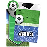 iscream Soccer Camp Pack of 8 Fold-over Cards with Flip Sticker Seals