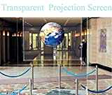 HOHO Transparent Screen Film Holographic Projector Rear Projection Film Self Adhesive Sticker,152cmx100cm