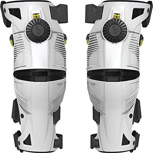 Mobius Products X8 Knee Braces-White/Acid Yellow-L