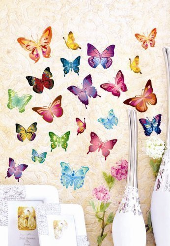 21 Set Wandtattoo Wandstickers Wanddeko 3d Schmetterlinge Wandaufkleber Ebay