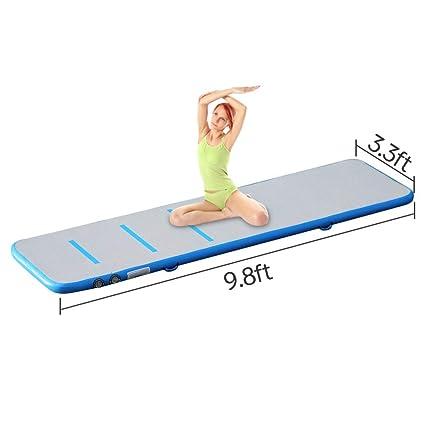 Funsport Home Gymnastics GYM Tumbling Air Track Floor Mat Inflatable Taekwondo Track