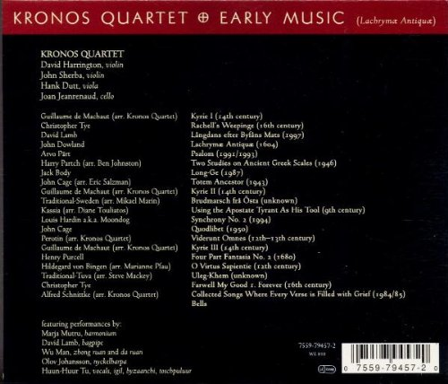 Kronos Quartet: Early Music (Lachrymae Antigua) by Nonesuch