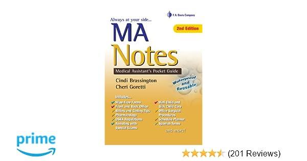 MA Notes: Medical Assistant's Pocket Guide: 9780803623668: Medicine