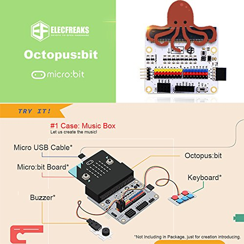 Flight-sky Micro:bit Breakout Board (Octopus:bit) Solve Power Supply Matters Compatible with BBC Micro:bit Pins by Flight-sky (Image #1)