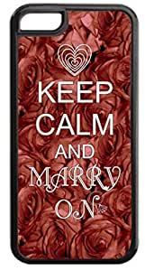 Keep Calm and Marry On- Case for the APPLE IPHONE 6 PLUS ONLY!!!-NOT COMPATIBLE WITH THE IPHONE 6!!!-Hard Black Plastic Case with Soft Black Rubber Inner Lining