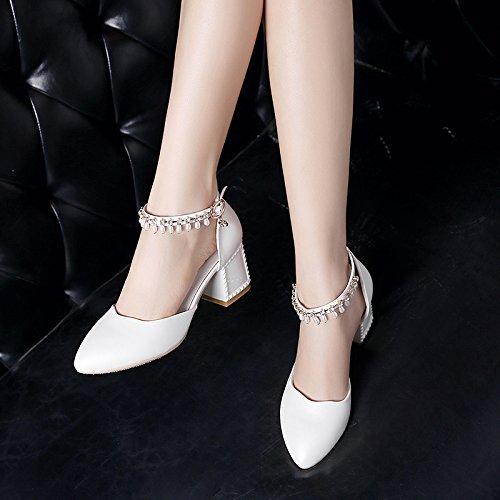 High Baotou Heeled Chaussures Femmes Femmes L'Eau EU34 Fendue Avec De Chaussures Sandales Percer SHOESHAOGE SIwx6S