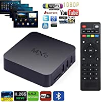 E&Tree MXQ Android TV Box, Internet 1080p HD WiFi Streaming Video Player ,Ultra HD 4K, Amlogic S805 Quad Core TV Box- (MXQ 1GB RAM,8GB ROM)