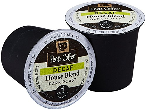 Peet's Coffee Decaf House Blend Separate Cup Coffee for Keurig K-Cup Brewers 40 count