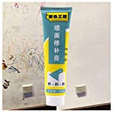 ErYao Wall Crack Repair Cream, White Latex Paint Wall Scratch Scuff Polish, Waterproof Wall Cracks Repair Ointment Formaldehyde Free Wall and Ceiling Repair Patch with Scraper (White)