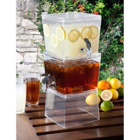 Creative Bath Products Stackable Beverage Dispenser Plastic 13.50