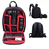 Camera Backpack SLR/DSLR Camera Bag Waterproof and Shockproof for Canon, Nikon, Sony, Olympus, Samsung, Panasonic, Pentax Cameras and Other Accessories