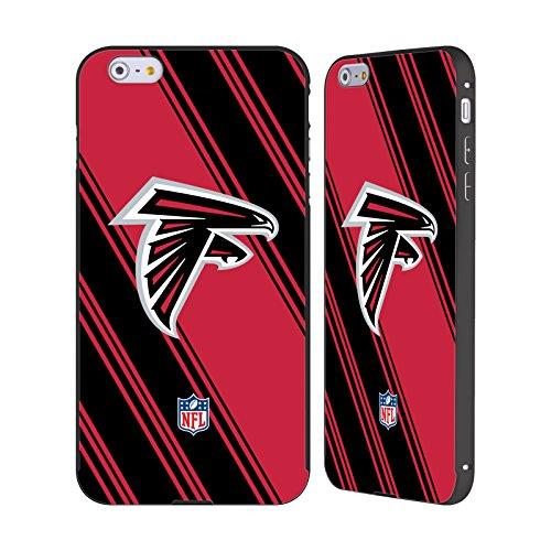 Atlanta Falcons Black Football Case (Official NFL Stripes 2017/18 Atlanta Falcons Black Aluminum Bumper Slider Case for Apple iPhone 6 Plus / 6s Plus)