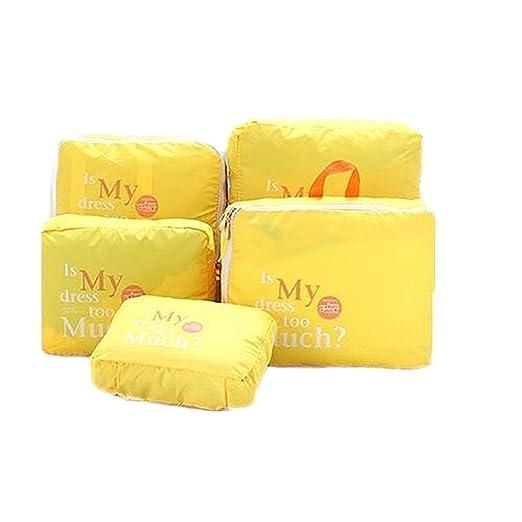 107 opinioni per Ducomi® Set di 5 organizzatori per valigie impermeabili (Yellow)