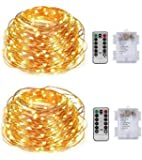 Fairy Lights Fairy String Lights with Remote Control 8 Modes 50 LED 16.4ft Copper Wire Lighted for Christmas Holiday Wedding Parties Holiday Decorative (2)