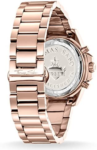 Thomas Sabo dames chronograaf kwarts horloge met roestvrij stalen armband WA0218-265-208-33 mm 1BdbMYIc