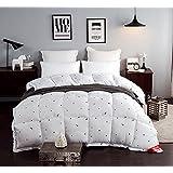 Polyester bed/bedding Warmth Full/Queen/Full/Twin Size Comforter Duvet Insert,Hypoallergenic Box Stitched,Warm Feather Velvet Quilt,Babysbreath,200×230cm(3Kg)
