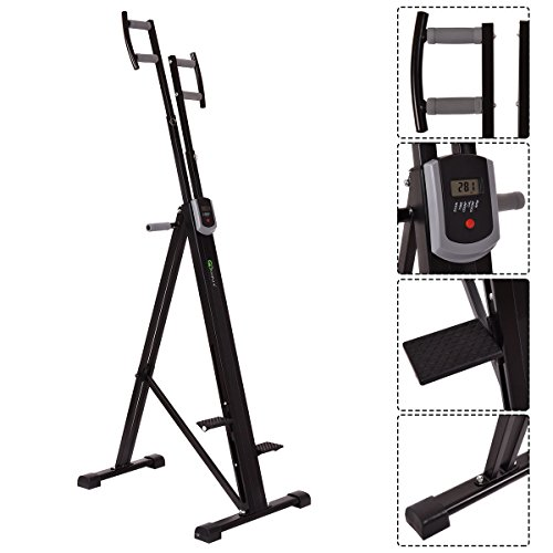 New Foldable Vertical Climber Machine Exercise Stepper Cardio Workout Fitness Gym