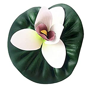 YHCWJZP Simulation Lotus Artificial Flower Banquet Flowers Home Room Decor Stage Prop - White 1